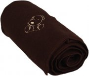Baby fleece blanket with dog brown | - detskedeky.cz