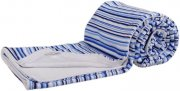 Double sided bamboo blanket blue stripes | - detskedeky.cz