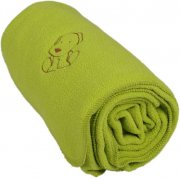 Baby fleece blanket with dog green | - detskedeky.cz