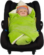 Bio Wrap me blanket in a car seat green | - detskedeky.cz