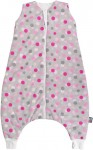 Sleeping bag with legs 100 cm grey with dots