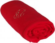 Baby fleece blanket with dog red | - detskedeky.cz