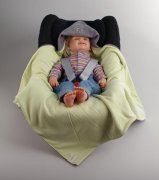 Summer Wrap blanket grey-green dog | - detskedeky.cz
