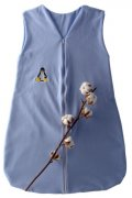 Blue Sleeping Bag Organic Cotton with Penguin 80 cm | - detskedeky.cz