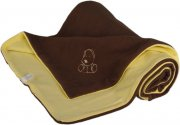 Baby Blanket brownish yellow with dog fleece cotton | - detskedeky.cz