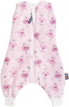 Sleeping bag with legs 60 cm pink with ballerinas