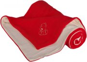 Baby Blanket red cream with dog fleece cotton | - detskedeky.cz
