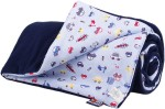 Warm baby blanket dark blue cars