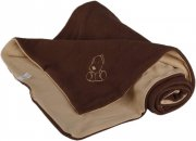 Baby Blanket brownish beige with dog fleece cotton | - detskedeky.cz
