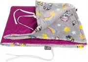 Purple non-falling blanket unicorns | - detskedeky.cz