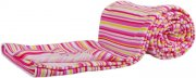 Cotton summer blanket pink stripes | - detskedeky.cz