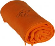 Baby fleece blanket with dog orange | - detskedeky.cz