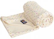 Summer organic cotton blanket with stars | - detskedeky.cz