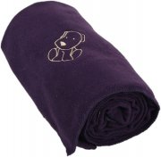 Baby fleece blanket with dog deep purple | - detskedeky.cz