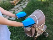 Waterproof merino gloves turquoise for a stroller | - detskedeky.cz