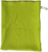 Green washcloth single-faced terry | - detskedeky.cz