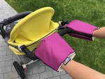Purple gloves for a stroller organic cotton