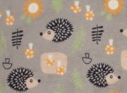 Flannel fleece blanket hedgehog 70x100cm | - detskedeky.cz