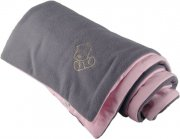 Warm baby blanket gray pink | - detskedeky.cz