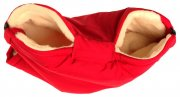 Red merino buggy muff from sheep's wool | - detskedeky.cz