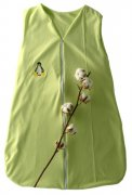Green Sleeping Bag Organic Cotton with Penguin 80 cm | - detskedeky.cz