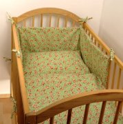 Flannel crib bedding in green | - detskedeky.cz