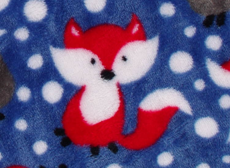 baby blanket with red fox