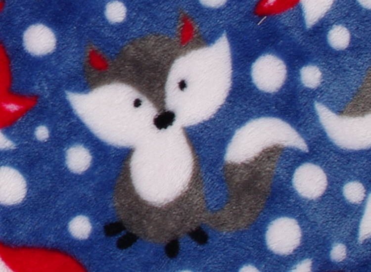 baby blanket with grey fox