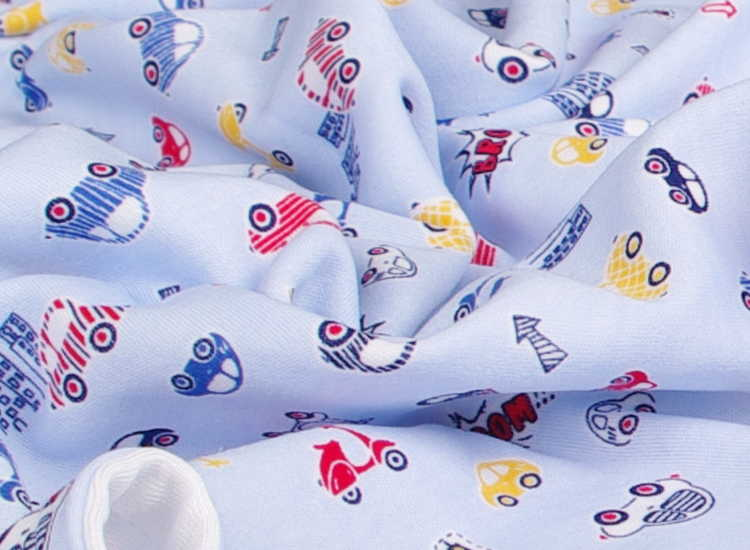 blue bamboo blanket cars motif
