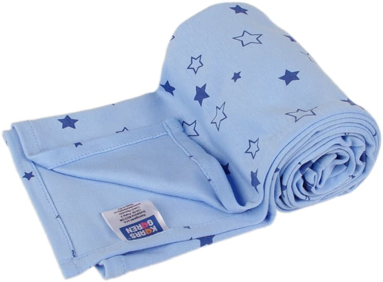 blue summer blanket with stars