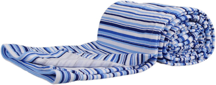 summer blanket with blue stripes