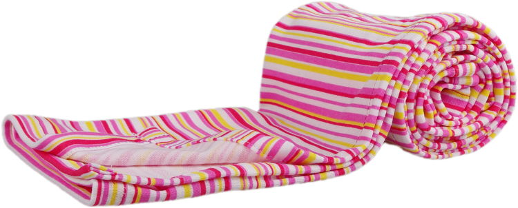 summer blanket with pink stripes