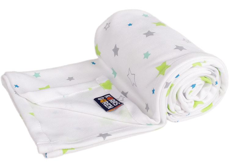 white summer blanket with stars