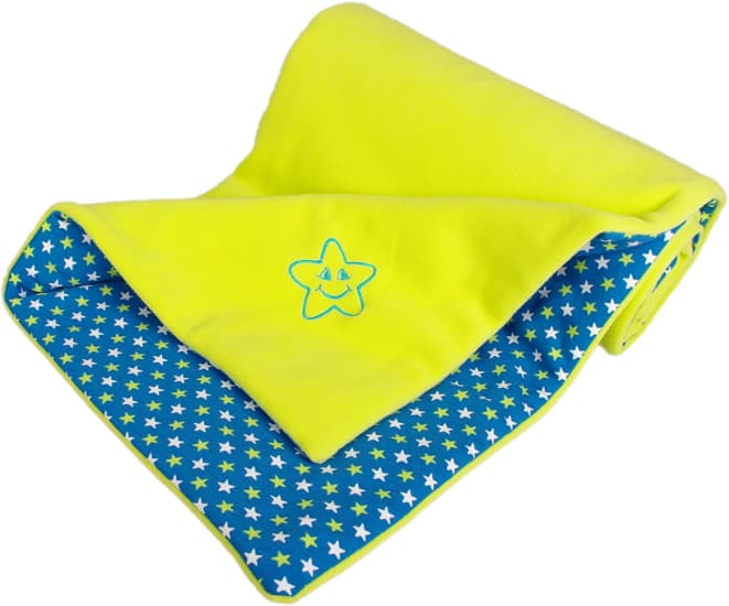 lime baby blanket star