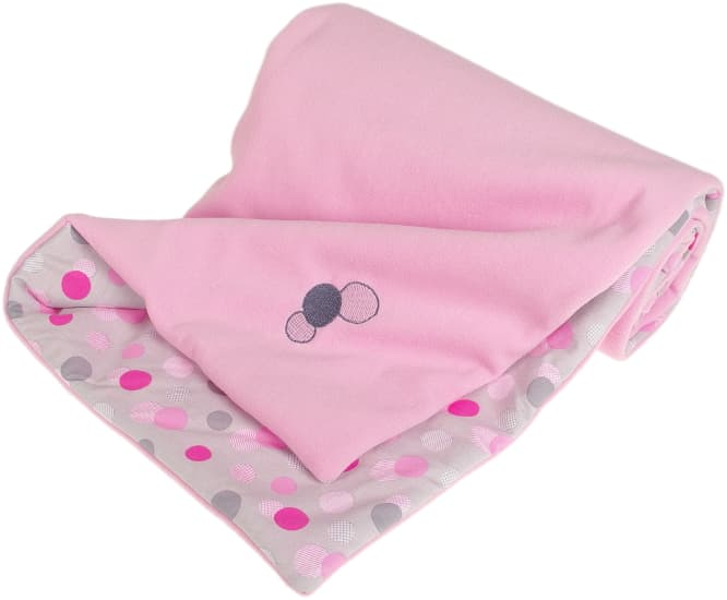 pink baby blanket dots