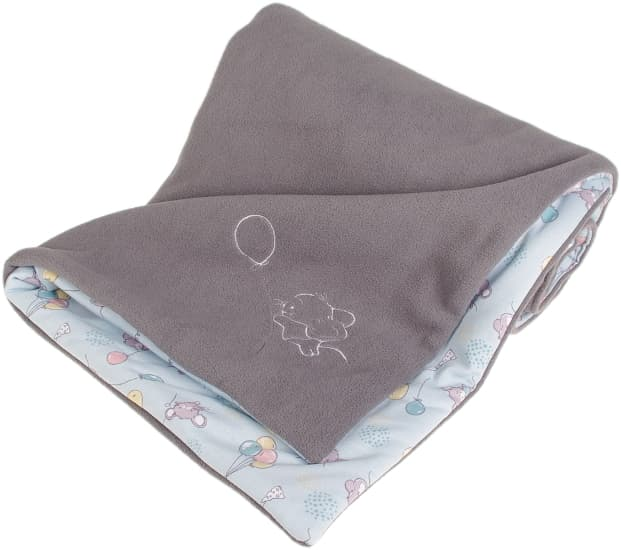 grey baby blanket mouse