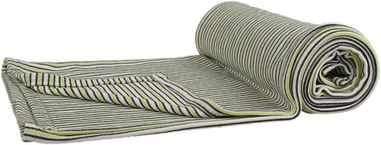 grey and green baby bamboo blanket