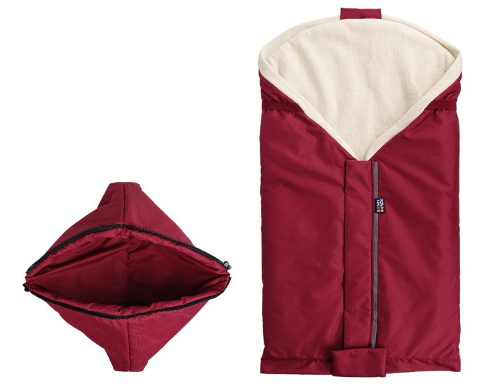 burgundy organic cotton footmuff