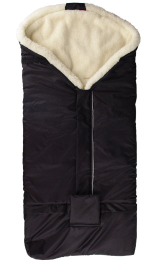 black merino footmuff