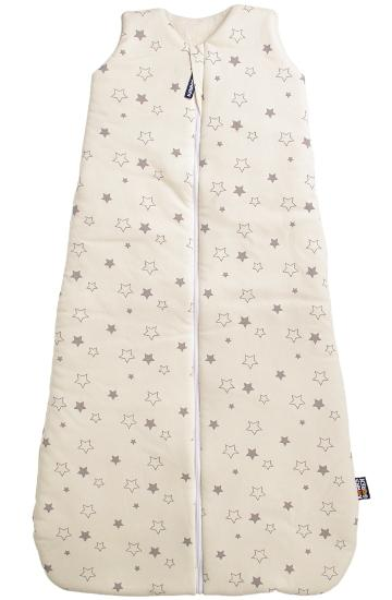 organic cotton sleeping bag grey star